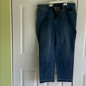 Talbots cropped flawless five pocket jeans NWT